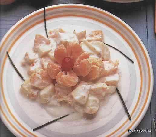 Ensalada de frutas y queso