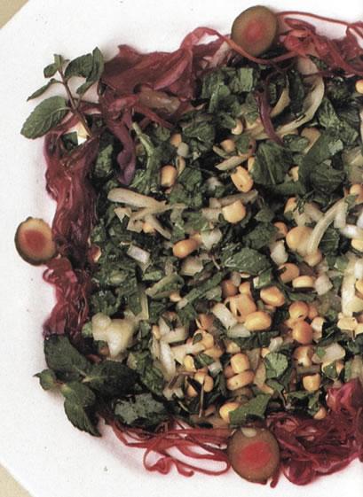 Ensalada de maíz y brotes de soja